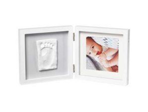 Κορνίζα Αποτύπωμα 2 Θέσεων Baby Art My Baby Style Simple Grey BR73756