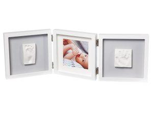 Κορνίζα Αποτύπωμα 3 Θέσεων Baby Art My Baby Style Double Grey BR73759