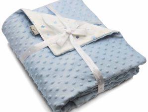 Κουβέρτα Βελουτέ Αγκαλιάς Pierre Cardin Toppy Blue
