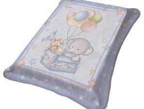 Κουβέρτα Βελουτέ Αγκαλιάς Viopros 1024 Σιέλ