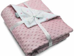 Κουβέρτα Βελουτέ Κούνιας Pierre Cardin Toppy Pink