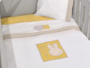 Κουβέρτα Πικέ Κούνιας Miffy Μπεζ Des 64