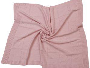 Κουβέρτα Πλεκτή Κούνιας Anna Riska Joy Pink
