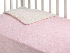 Κουβέρτα Fleece Κούνιας Με Γουνάκι Morven Capricho B27/04 Ροζ