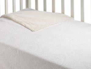 Κουβέρτα Fleece Κούνιας Με Γουνάκι Morven Capricho B27/10 Λευκό