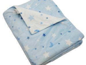 Κουβέρτα Fleece Κούνιας Pierre Cardin Moon Blue
