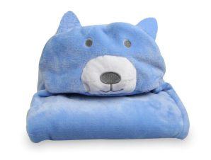 Κουβέρτα Fleece Με Κουκούλα Morven Αρκουδάκι 2145
