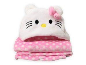 Κουβέρτα Fleece Με Κουκούλα Morven Kitty 2145