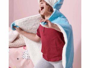Κουβέρτα Fleece Με Κουκούλα Palamaiki NB0126 Blue