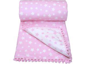 Κουβερλί Μουσελίνα Λίκνου Morven Molly 1905 Pink