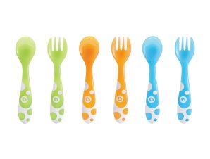 Κουτάλια + Πιρούνια (Σετ 6 τμχ) Munchkin Multicolored