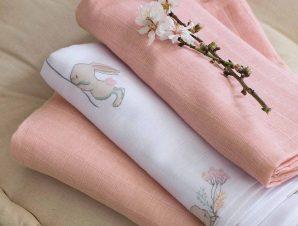 Μουσελίνες/Πάνες Αγκαλιάς (Σετ 3τμχ) Nima Baby Bunny Love