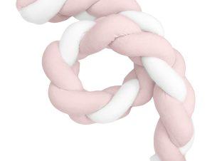 Πάντα Κούνιας – Πλεξούδα Βελουτέ Baby Oliver Des 1700 Λευκό-Σομόν