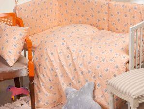 Παπλωματοθήκη Κούνιας Melinen Baby Line Mini Stars Rose