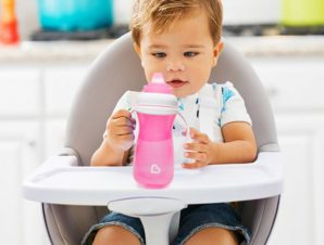 Ποτήρι Εκπαιδευτικό 300ml Munchkin Gentle Cup Tall Pink