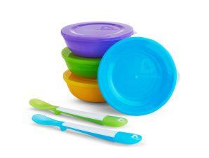 Φαγητοδοχεία + Κουτάλια (Σετ 6τμχ) Munchkin Love-A-Bowls