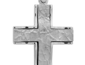 Σταυρός 14Κ από Λευκόχρυσο SVA36