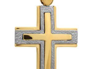 Σταυρός 14Κ από Χρυσό και Λευκόχρυσο SVA2338