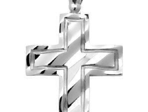 Σταυρός 14Κ από Λευκόχρυσο SIO50812