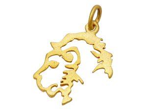 Μενταγιόν Χρυσό Λέων 14Κ 71312