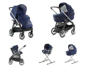 System Aptica Quattro College Blue Full Kit with car seat Cab Inglesina
