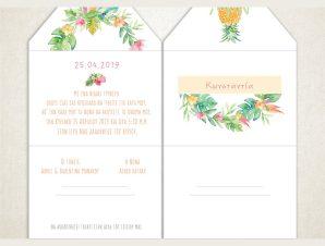 """Προσκλητήριο Βάπτισης """"Λουλούδια"""" VT403"""