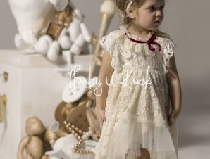 Baby u Rock Χειμερινό Φόρεμα Βάπτισης 500803