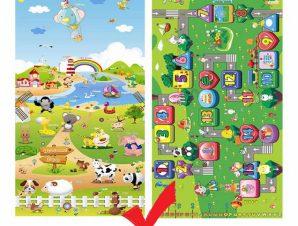EPE Playmat Παιδικο Μαλακο Χαλί Φαρμα-Δρομος.180cmX230cm 1cm