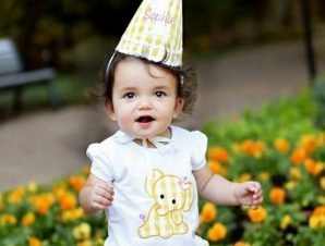 RuffleButts Παιδική Μπλούζα Λευκή με Ελεφαντάκι, 3-6 μηνών