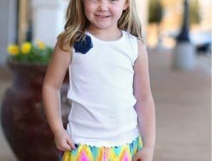 RuffleButts Παιδικό Αμάνικο Μπλούζακι με Μπλε Λουλούδι, 3-6 μηνών