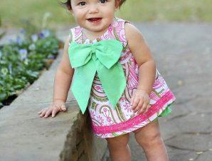 RuffleButts Παιδικό Top Μπλουζάκι με Φιόγκο, 18-24 μηνών